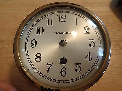 Clockmakers Hammond Mechanical Clock Movement lot#25
