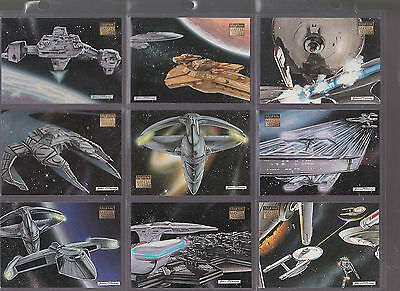 Set Of Star Trek Assorted Space Ships Skybox Trading Cards Tv Movie Sci-Fi Lot 2