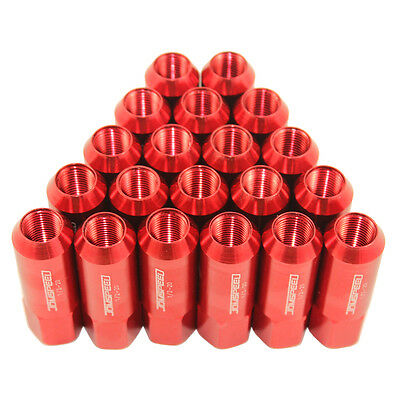 Aluminum Tuner Racing Lug Nut Jdmspeed Extended Forged For Mustang Ford 20Pc Red