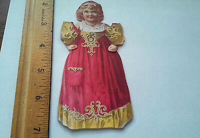 OLD victorian girl paperdoll advertising trade card McLaughlin's XXXX Coffee
