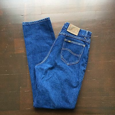 Vintage Lee Riders 16 Long 32x34 High Waisted Blue Jeans Made In USA
