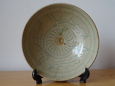 c.19th - Antique Vintage Chinese Stoneware Bowl