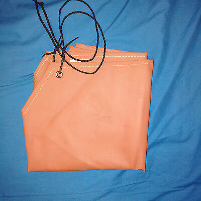 Red/Brown Rubber Apron: Protects from acids chemical, solvents & oils.