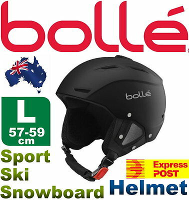 NEW Bolle Vented Large 57-59cm Headsize Sport Snowboard Ski Helmet -Express Post
