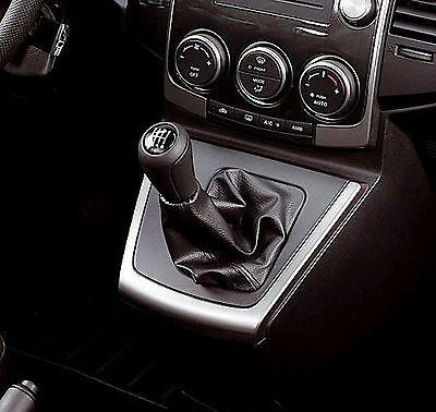 Genuine Leather Gear Shift Boot Gaiter Cover Sleeve fit Mazda 5 Premacy