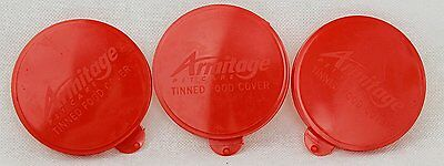 3 x standard tin covers dog cat pet food can cover lid 75mm lids