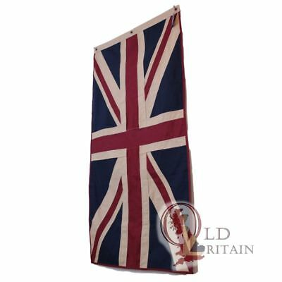 Large Eco Vintage Union Jack Flag | Heavy Duty Cotton | 76 x 151 cm Tea Stained