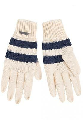 -50 % Pepe Jeans~Handschuhe~HAIRY~offwhite navy~NP 19,95 €~Neu~Gr.8-10Y/M