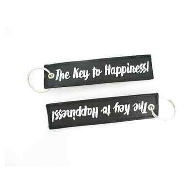 The Key To Happiness Motorcycle Key Tag-1 pair