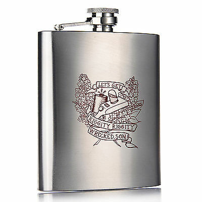 Rick and Morty Flask / Let's Get Riggity Riggity Wrecked Son! / Rick Sanchez