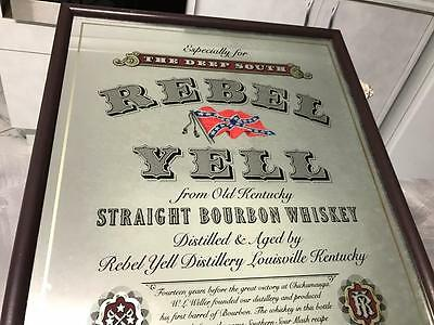 Vintage Rebel Yell Scotch Whiskey Bar Mirror Australian ? Sign Mancave Home Shed