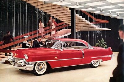 1956 Cadillac Coupe Deville, Blue/White, Refrigerator Magnet 40 Mil thick