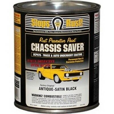 Chassis Saver Paint, Stops and Prevents Rust, Satin Black, 1 Quart Can New!