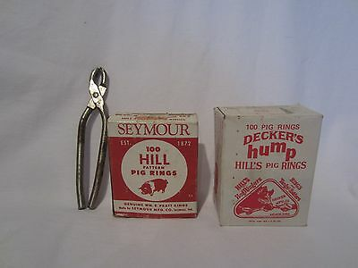 Hog Rings Seymour 100 Hill Pattern Deckers Hump Hill's Pig Rings with Pliers Pig