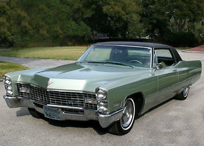 1967 Cadillac Coupe Deville, GREEN, Refrigerator Magnet 40 Mil