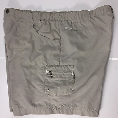 "Womans Columbia Cargo Shorts Large Tan Sandy River 6"" Inseam AL4488"