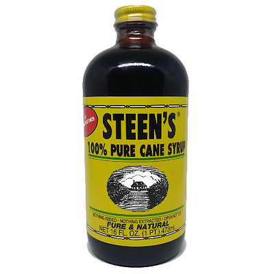 Steens 100% Pure Cane Syrup, 16oz Bottle