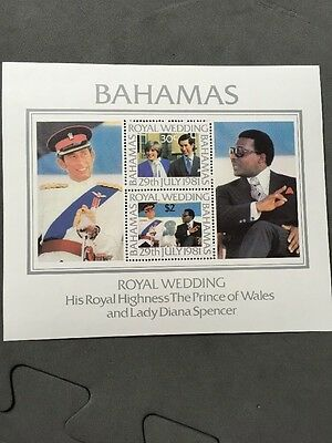 Bahamas Royal Wedding 1981 Miniature Sheet MNH