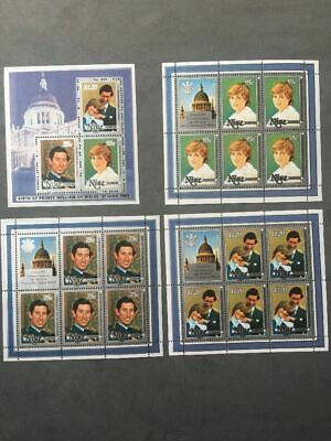 Niue 1982 'Birth of Prince William' Set of Four Sheetlets Unmounted Mint (MNH)