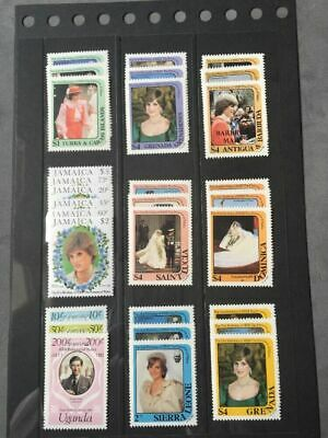 21st Birthday Of The Princess Of Wales Mixture Of MNH Stamp Sets (see pics)