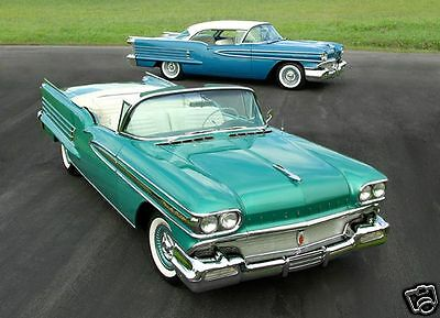 1958 Oldsmobile 98 Coupe & Convertible, Refrigerator Magnet, 40 MIL Thick