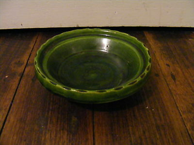 Small Green Unsigned John Campbell Pottery Bowl - Glazed - Vintage