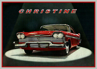 1958 Plymouth Fury, CHRISTINE, Red/White, Refrigerator Magnet, 40 MIL