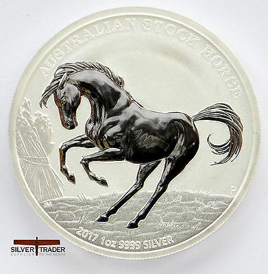 2017 1oz Australian Stock Horse 1 ounce Silver Bullion Coin unc: