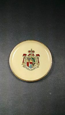 Vintage Princely House Coat of Arms Butter Pat – Made in Lichtenstein – Pre 1961