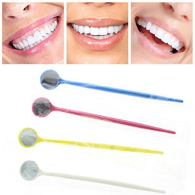 5pcs Disposable Plastic Dental Mouth Mirror Reflector Electronics Colorful Tools