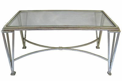 Mid-Century Steel and Glass Coffee Table