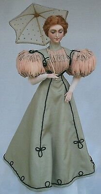 "1896 Fashion Dress with Puff Sleeves Sewing Pattern for a 24"" Fashion Doll  #22"