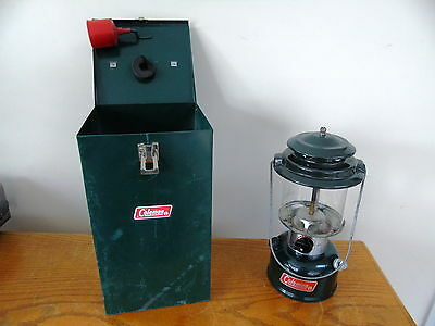 COLEMAN 290 A 700 LANTERN  4 - 90 with METAL CARRY CASE AND FUNNEL WITCHITA