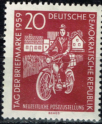 Germany Motorcycle Mail man stamp 1959 MLH