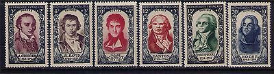 France Stamps Y# 867-72 Cpl. MNH Cat.$100
