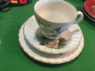 Old Foley Bone China Teaset Trio Made In Staffordshire England Vguc