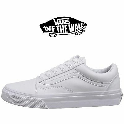 b253a501ca Mens Vans Old Skool Fashion Sneaker Core Classic White Canvas Suede All  Size NEW