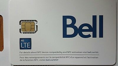 Bell Mobility Nano SIM Card 4G LTE ***Brand-New / Un-Activated***