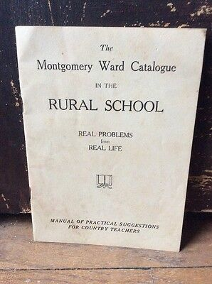 Vintage Montgomery Ward Catalog In The Rural School OLD Antique Lesson Book