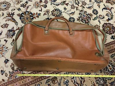 Pop's Vintage leather travel luggage or suitcase VGUC