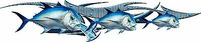 GIANT TREVALLY blade graphic CAR/ TRUCK / BOAT/DECAL 1320mm X350mm LEFT /RIGHT
