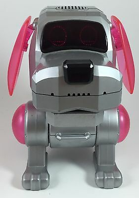 Retro 1999 Sega Tiger Electronics PooChi Robot Dog, TESTED AND WORKING Pink Ears