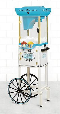 Vintage Snow Cone Machine Commercial Crusher Shaved Ice Maker Cart Rolling