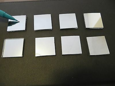 "8 Pcs First Front Surface Mirror 1.0"" x 1.0"" x .090  laser camera projector lab"