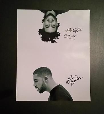 "Weeknd & Drake Pp Signed 10""x8"" Photo Weekend Rap Hip Hop Repro"
