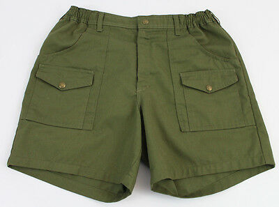 Official Boy Scouts America BSA Shorts Size 34 Olive Green Cargo Uniform