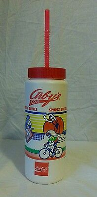 Vintage Arby's Team Sports Bottle Plastic Advertising 1989 80s