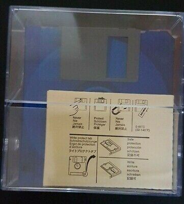 "NEW 10x Verbatim/Mitsubishi Disks MF 2HD MICRO Floppy Disk 3.5"" 1.44MB"