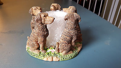 Chesapeake Bay Retriever Dog Circle Votive Candle Holder New In Box Puppy