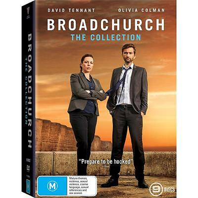 BRAND NEW Broadchurch : Series 1-3 (DVD, 2017, 9-Disc Set) *PREORDER R4 Complete